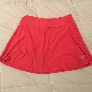 Neon Fila A-Line Skirt with Short, Size Medium